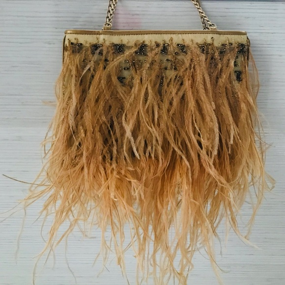 9b18cc019b2e CHANEL Bags | Authentic Ostrich Feathers Theater Purse | Poshmark